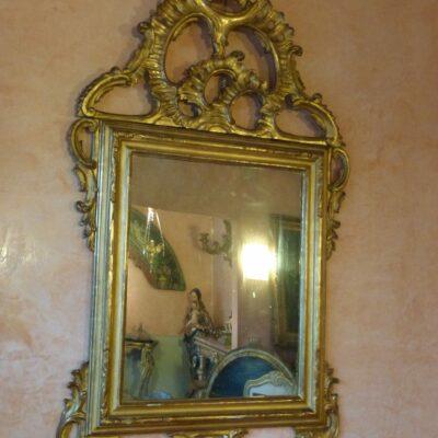 Specchiera in legno dorato Lombardo – Veneta