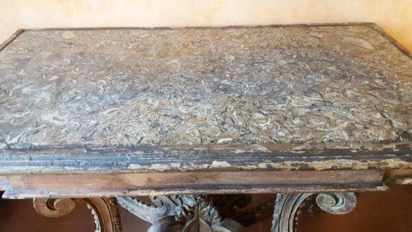 Consolle Luigi XIV con marmo lumachella-jpeg