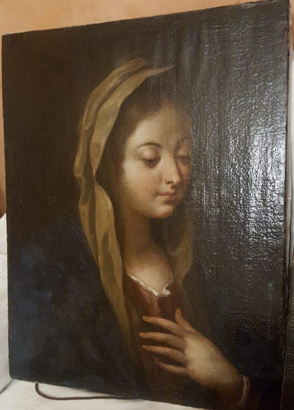 Madonna olio su tela XVIII sec.