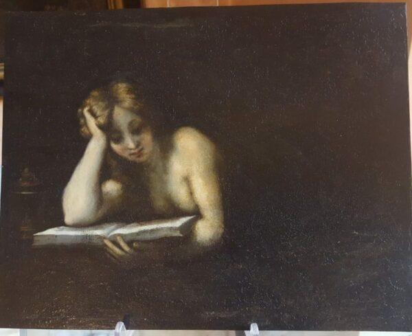 Dipinto su rame raffigurante Maddalena