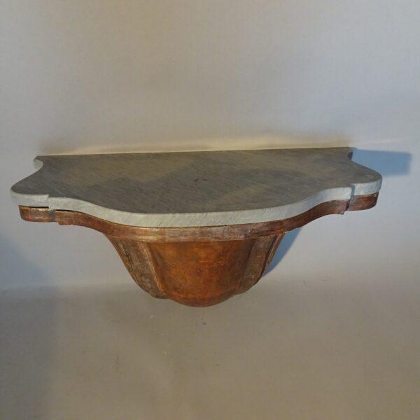 Consolle a goccia in legno argentato Luigi XV-1