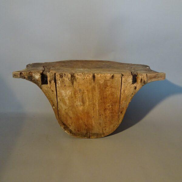 Consolle a goccia in legno argentato Luigi XV-3