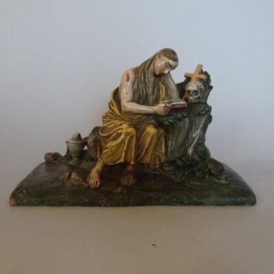 scultura in terracotta policroma