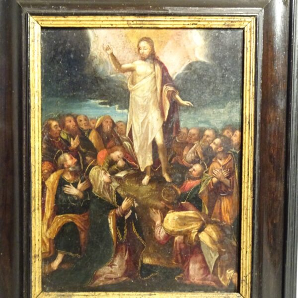 Ascensione di Gesù olio su rame XVII sec.-1