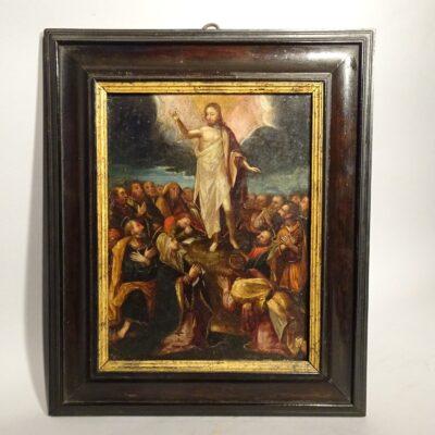 Ascensione di Gesù olio su rame XVII sec.