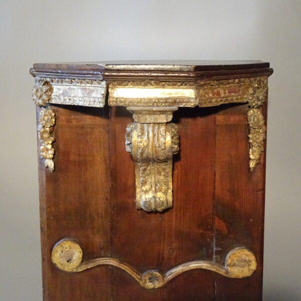 Base in legno portastatua XVIII secolo-1