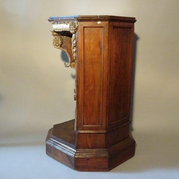 Base in legno portastatua XVIII secolo-2
