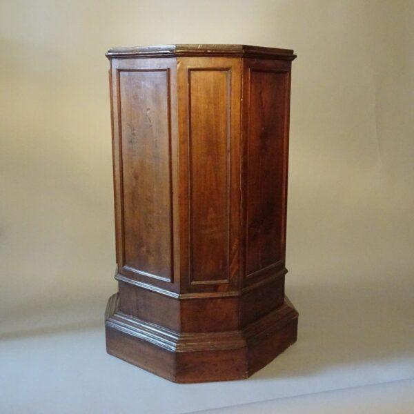 Base in legno portastatua XVIII secolo-3