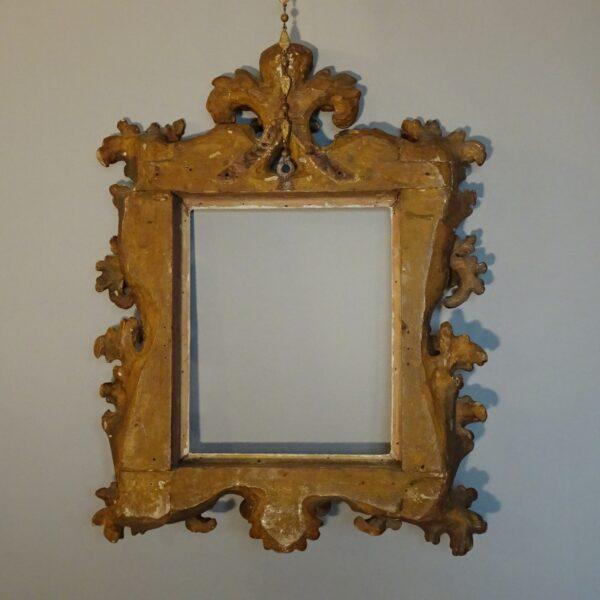 Cornice emiliana in legno dorato-3