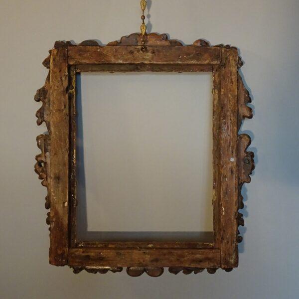 Cornice in legno dorato XVIII secolo-3