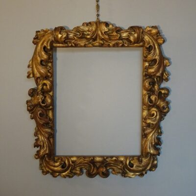 Cornice in legno dorato XVIII secolo