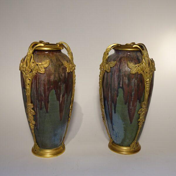 Importante coppia di vasi francesi