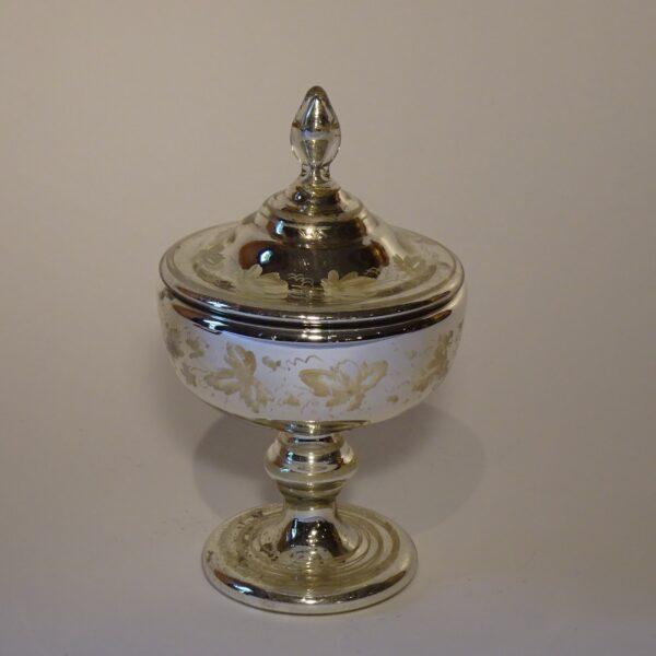 Pisside in vetro argentato XIX secolo-1