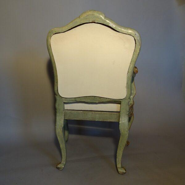 Poltrona Luigi XV laccata e dorata-3