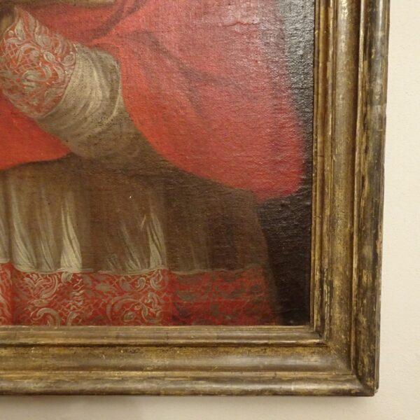 Ritratto di cardinale olio su tela XVIII sec.-2