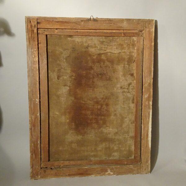 Ritratto di cardinale olio su tela XVIII sec.-3