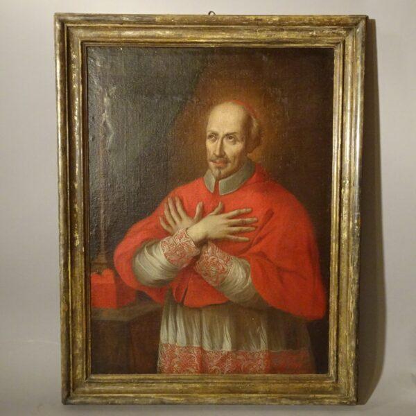 Ritratto di cardinale olio su tela XVIII sec.