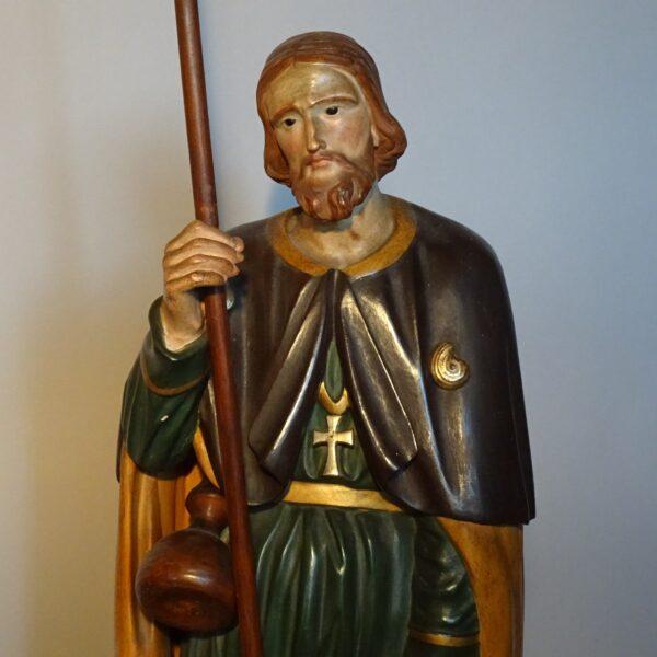 Scultura lignea policroma di San Rocco-1