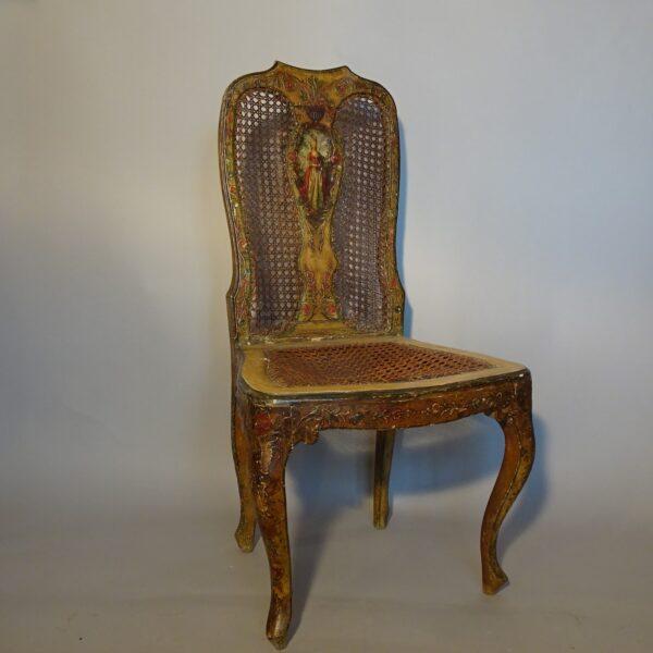 Sedia in legno laccato, Venezia XVIII secolo-1