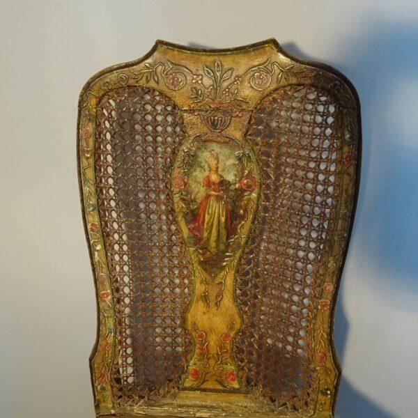 Sedia in legno laccato, Venezia XVIII secolo-2