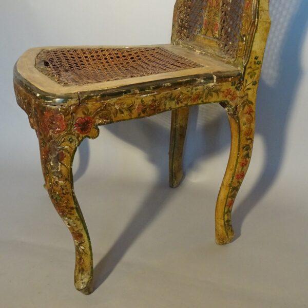 Sedia in legno laccato, Venezia XVIII secolo-3