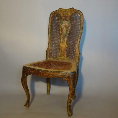 Sedia in legno laccato, Venezia XVIII secolo