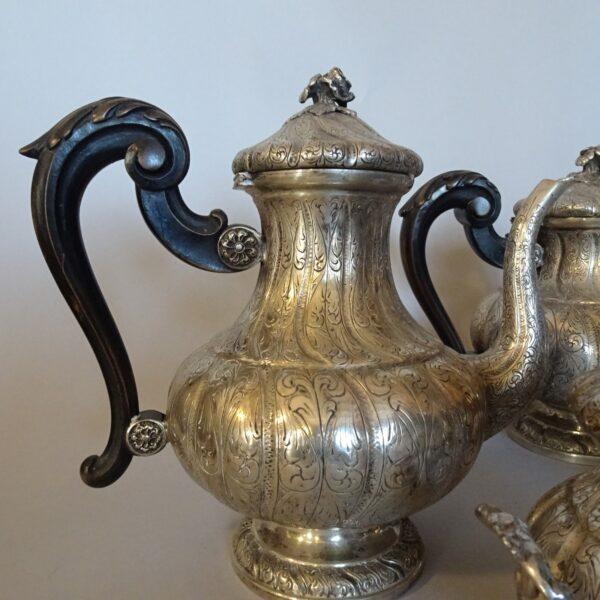 Servizio da the e caffè in argento-2