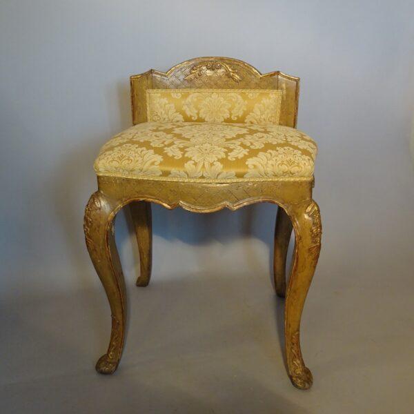 Sgabello in legno laccato Luigi XV-1