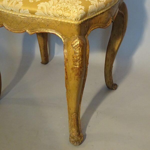 Sgabello in legno laccato Luigi XV-2