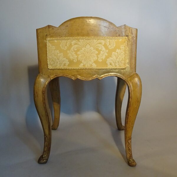 Sgabello in legno laccato Luigi XV-3