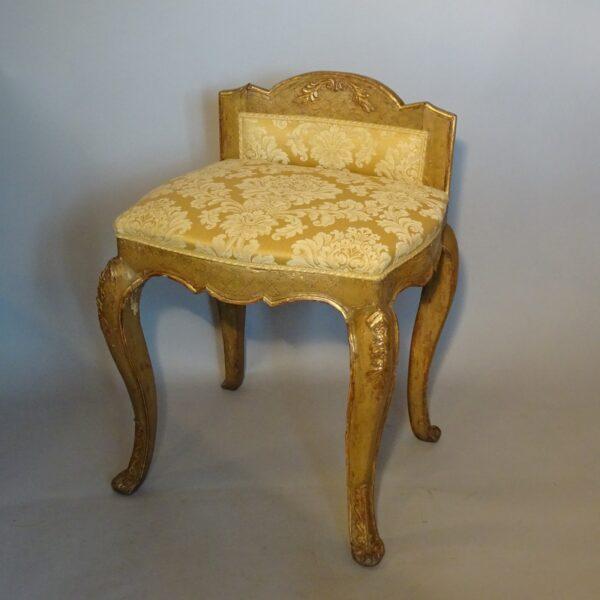 Sgabello in legno laccato Luigi XV