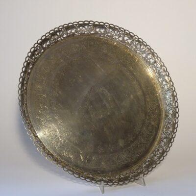 Vassoio in argento metà XIX secolo