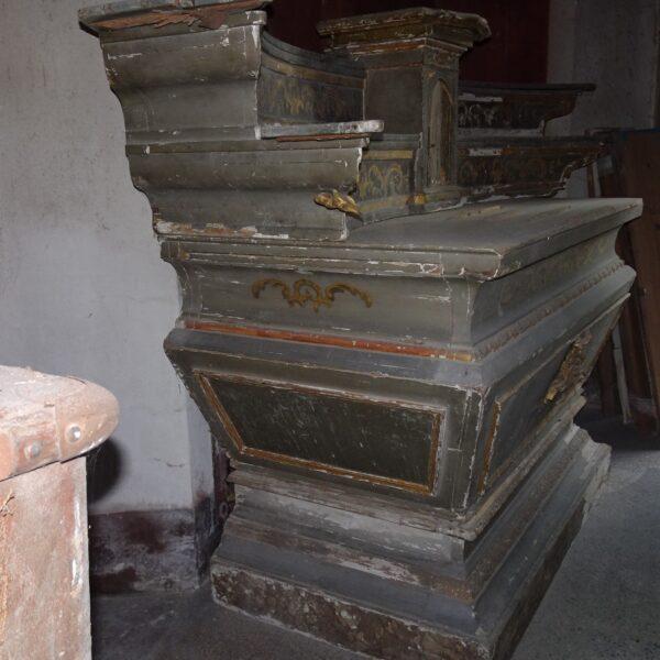 Altare in legno laccato e dorato XVIII secolo-3