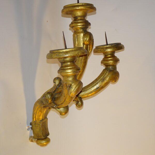 Applique in legno dorato XVIII secolo-2