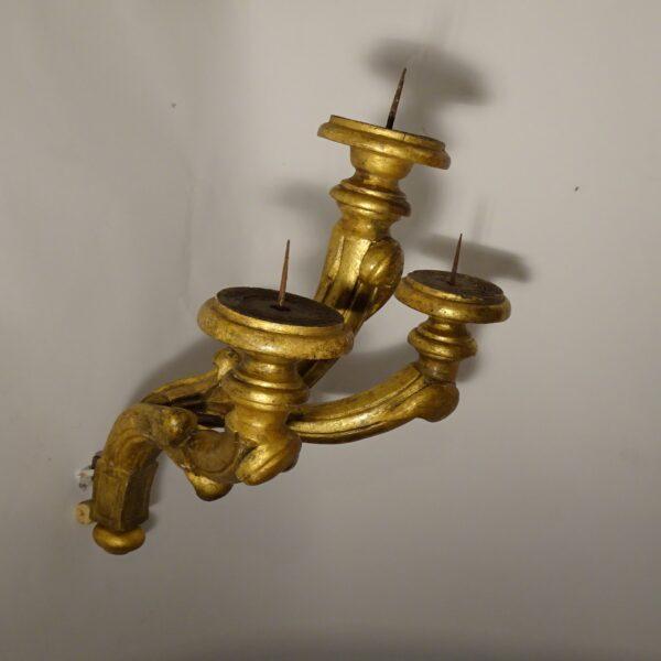 Applique in legno dorato XVIII secolo-3