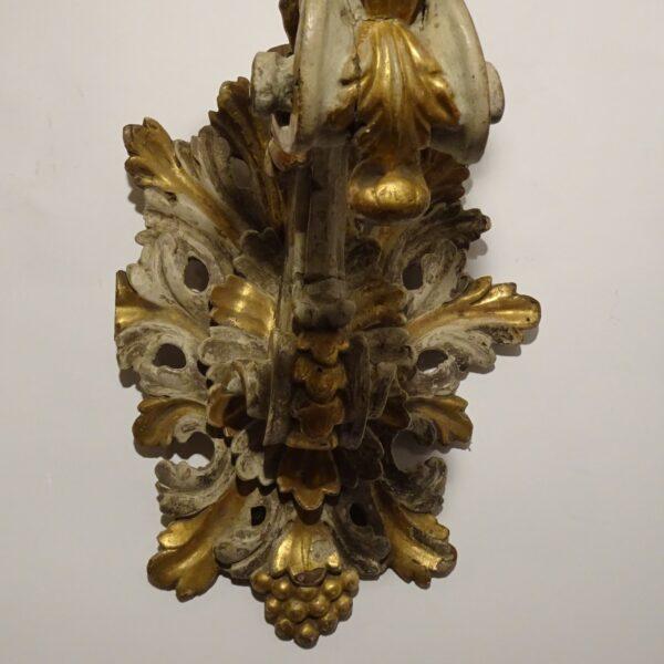 raccio in legno laccato e dorato XVIII sec-3