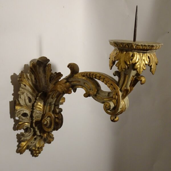 raccio in legno laccato e dorato XVIII sec