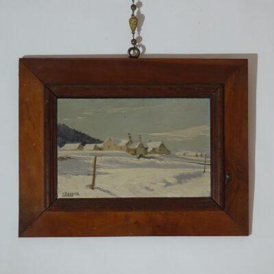 Camillo Besana Baite innevate in Val Vigezzo