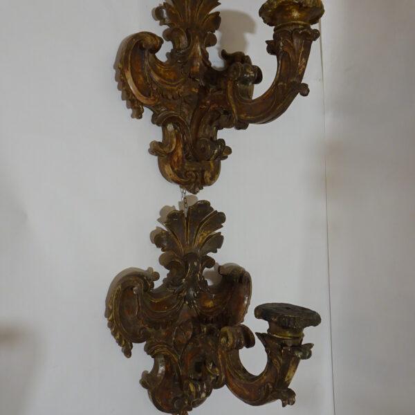 Coppia di placche portacero inizio XVIII secolo-1