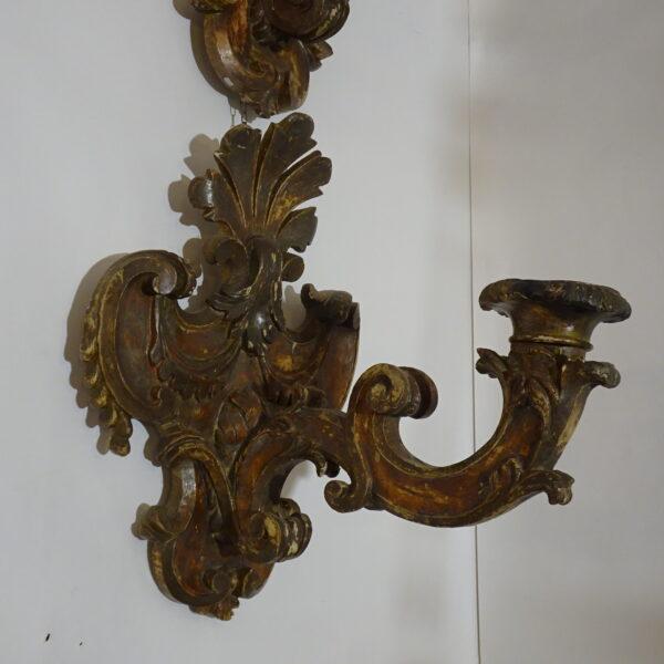 Coppia di placche portacero inizio XVIII secolo-2