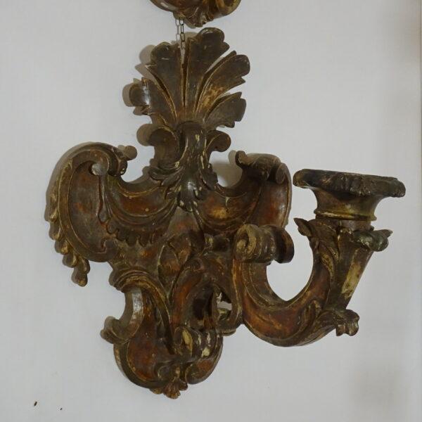 oppia di placche portacero inizio XVIII secolo