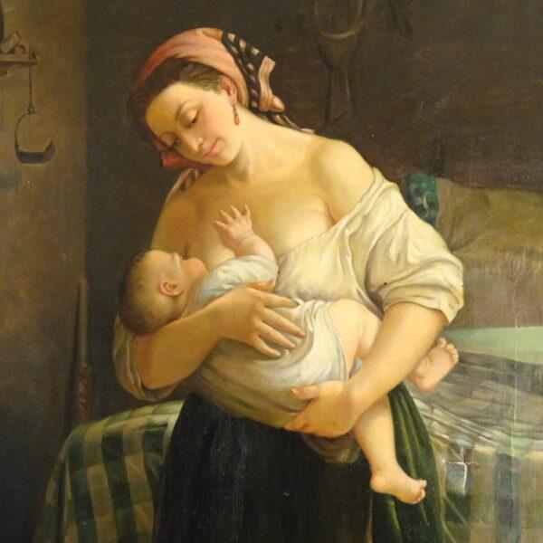 a lattante attr. a Cletofonte Preti XIX secolo-1