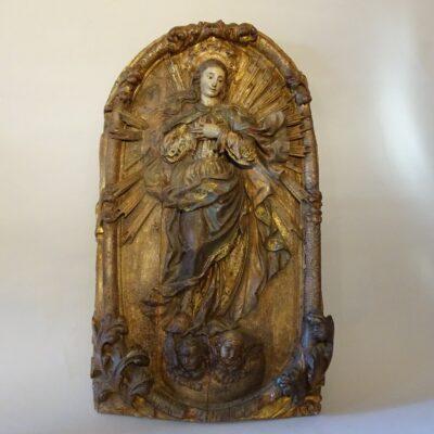 Madonna in legno policromo XVII secolo