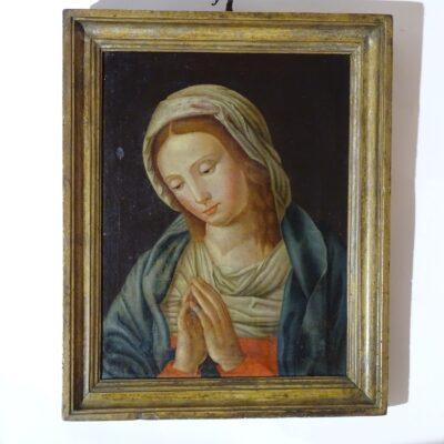 Madonna orante, scuola emiliana sec. XVIII
