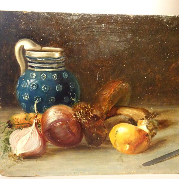 Natura morta dipinto ad oilo su tavola-1