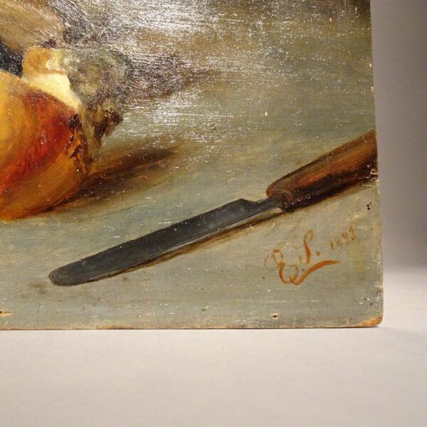 Natura morta dipinto ad oilo su tavola-2