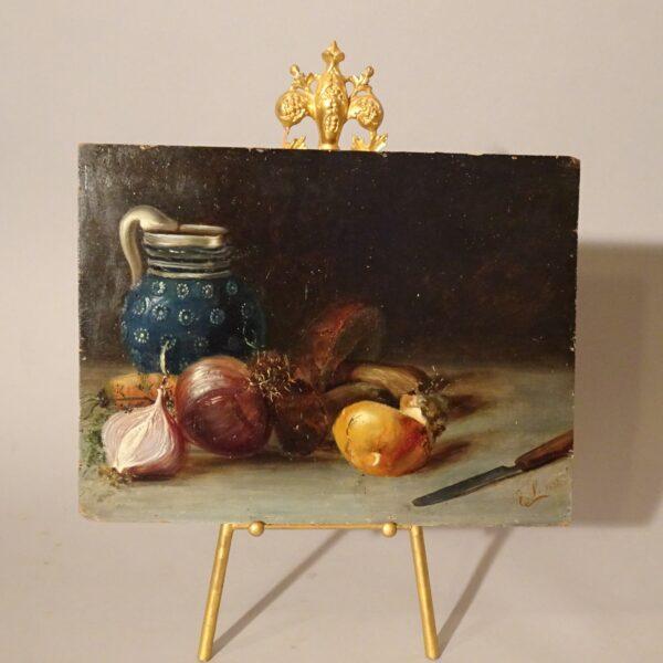 Natura morta dipinto ad oilo su tavola-3