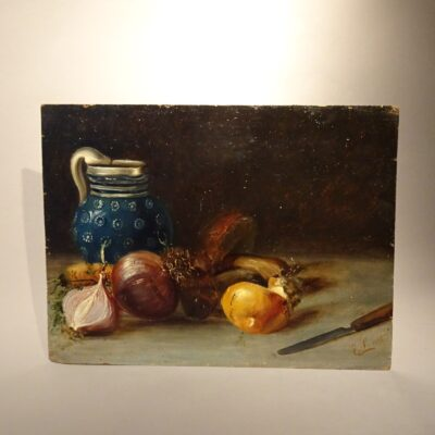 Natura morta dipinto ad oilo su tavola