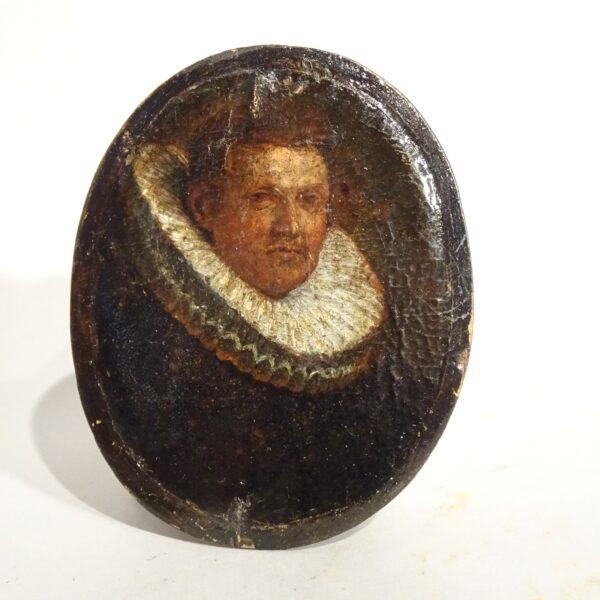 Piccolo ritratto di gentiluomo XVII secolo-1