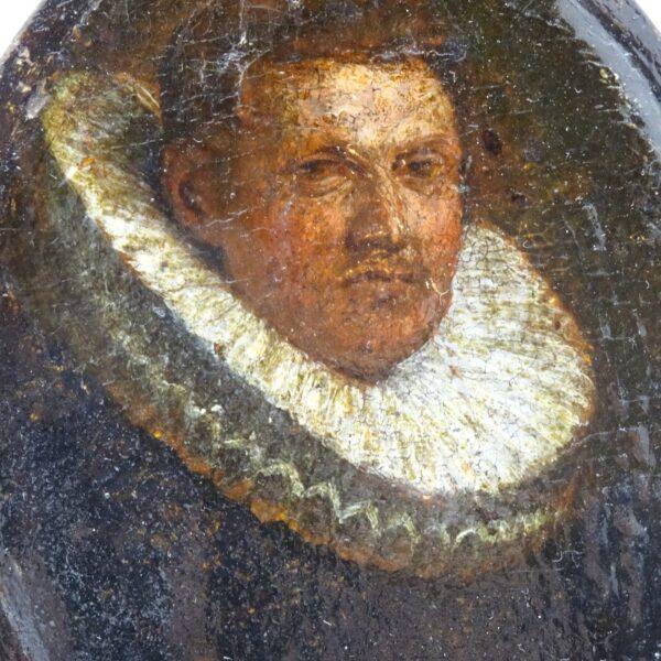 Piccolo ritratto di gentiluomo XVII secolo-2
